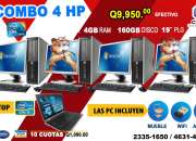 COMBOS 4+1 COMPUTADORAS HP+ 01 LAPTOP DELL!!! Tel: 2335-2099//5701-6630