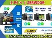COMBO TODO INCLUIDO DE 03 COMPUTADORAS DELL +01 COMPUTADORA HP  PROCESADOR COREi5 PARA SER