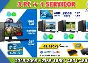 COMBO ECONÓMICO DE 03 COMPUTADORAS DELL +01 COMPUTADORA HP  PROCESADOR COREi5 PARA SERVIDO