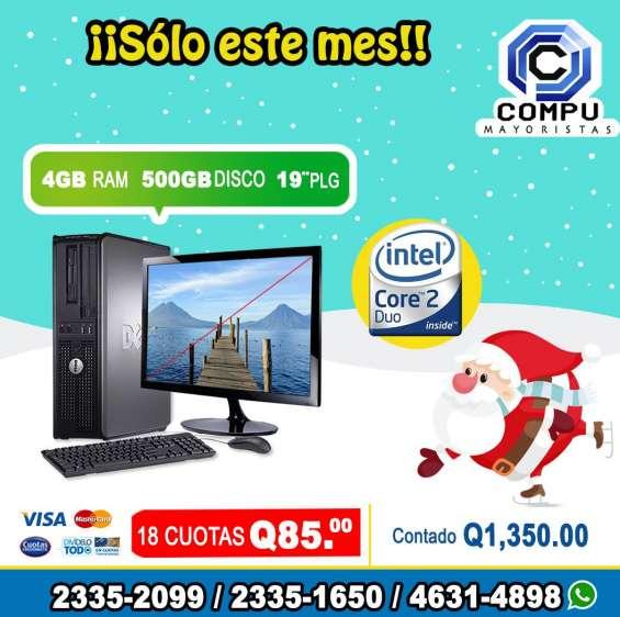 La navidad llego a compumayoristas computadoras dell, 4gb ram, 500hd, lcd 19p, a tan solo