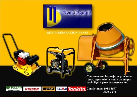 Renta de maquinaria liviana para la construcción