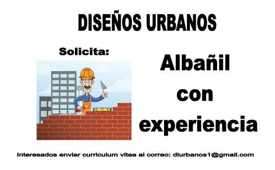 Albañil con experiencia